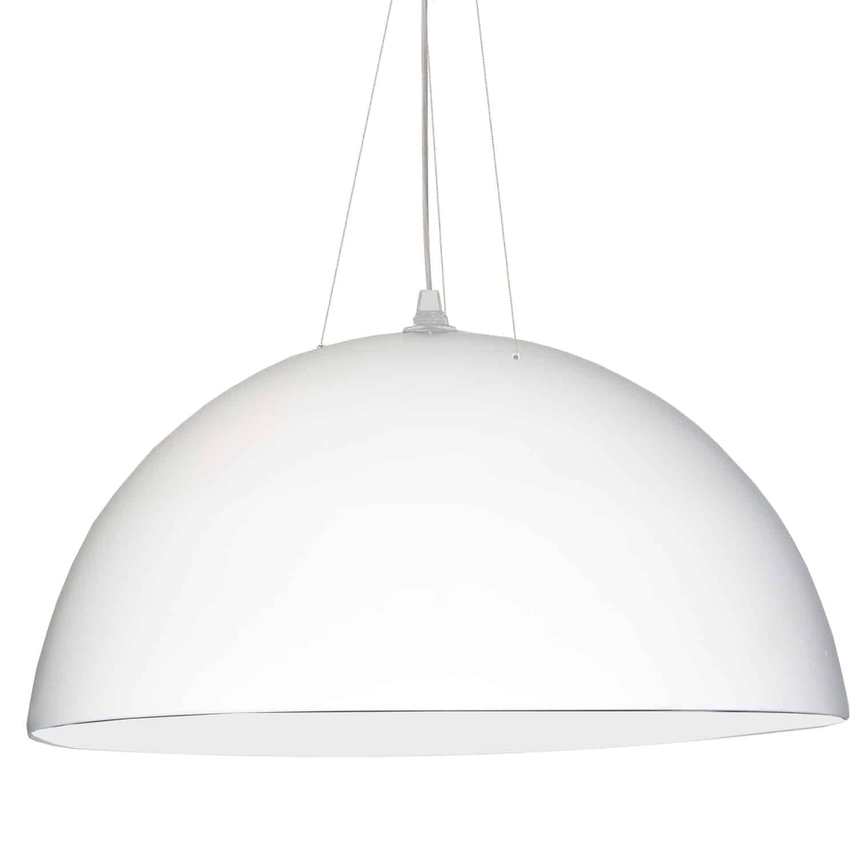 3 Bulb Pendant, White Finish