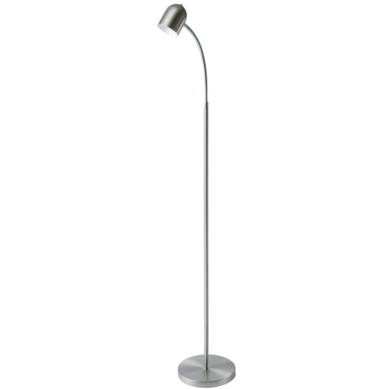 5 Watt LED Floor Lamp, Satin Chrome Finish