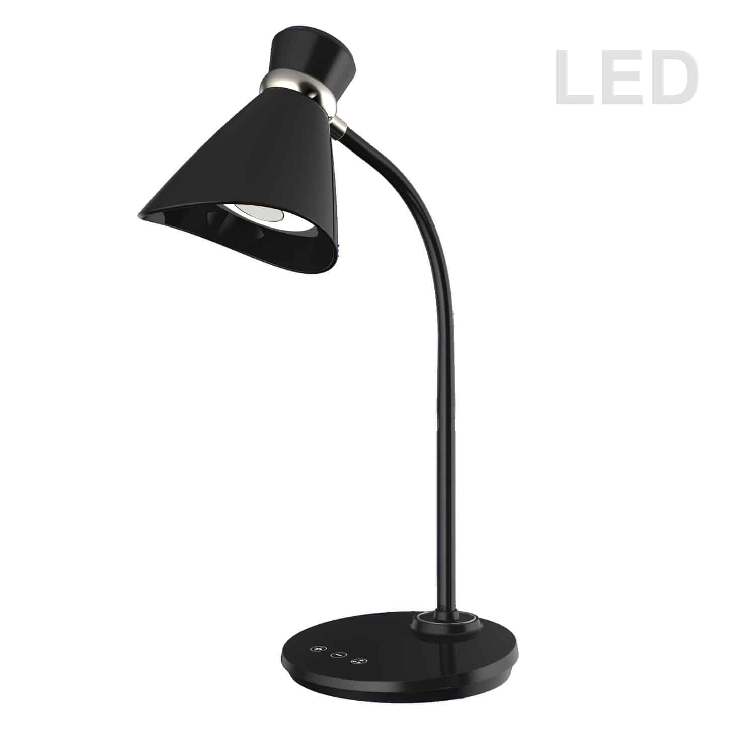 6W LED Desk Lamp, Black Finish