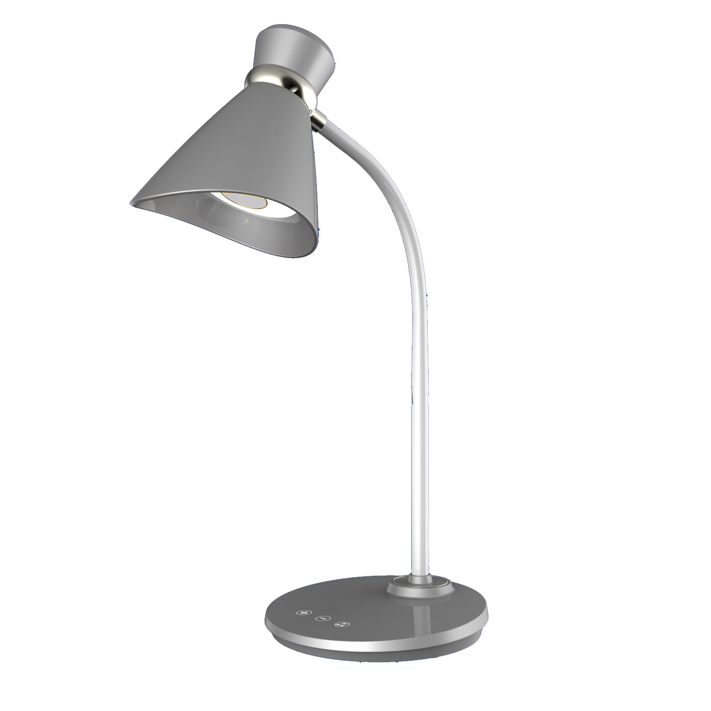 6W LED Desk Lamp, Silver Finish
