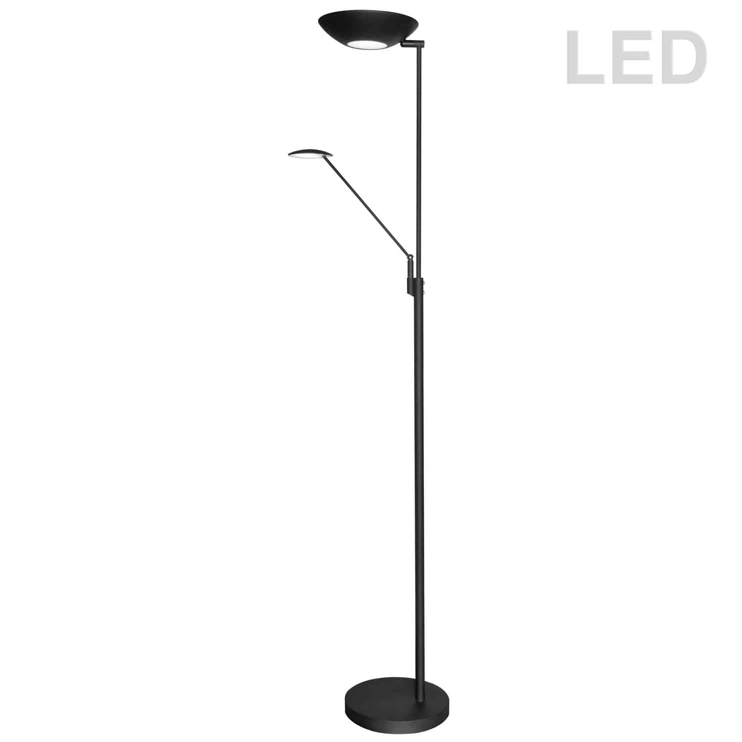 Mother & Son LED Floor Lamp, Black Finish