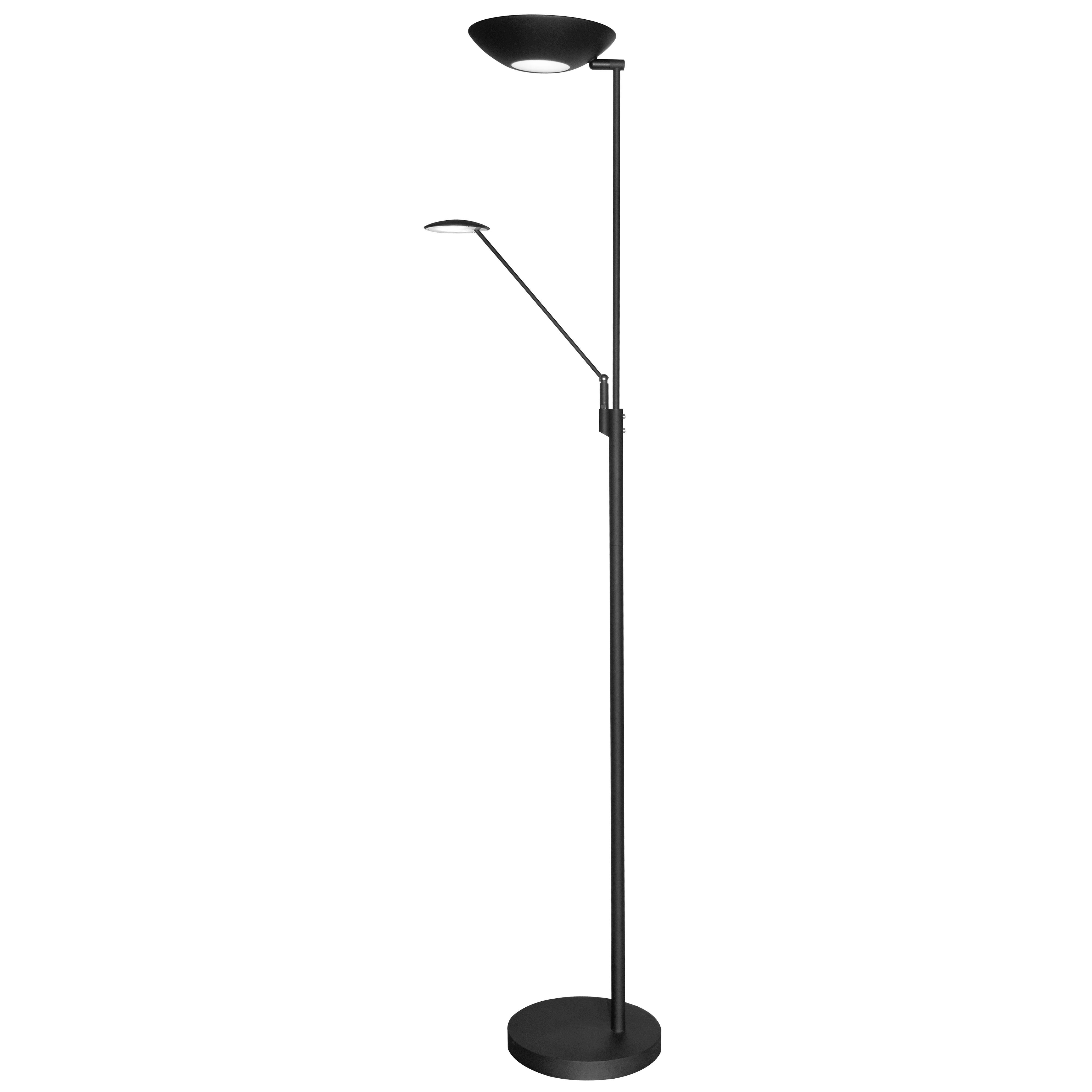 Mother & Son LED Floor Lamp, Black Finish