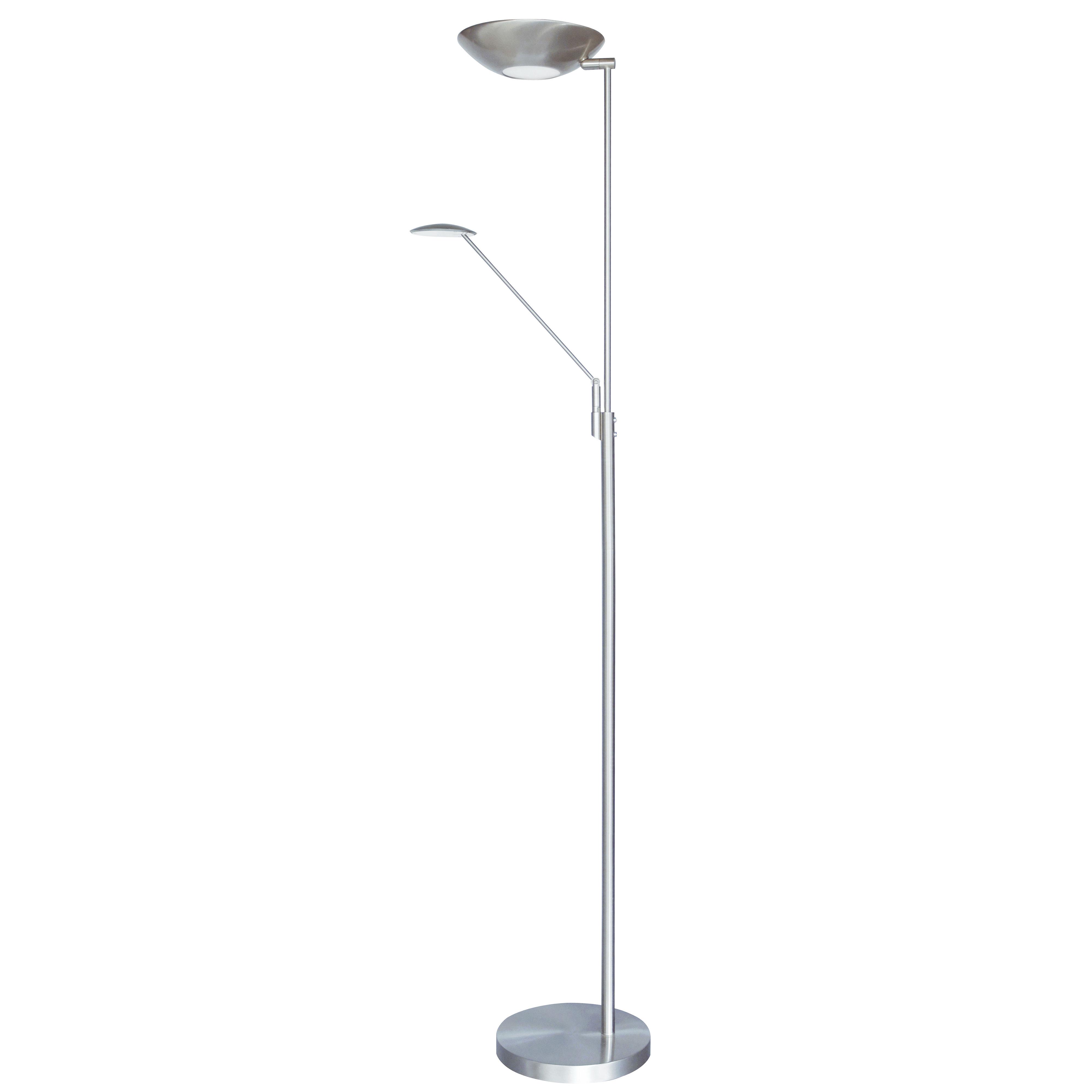 Mother & Son LED Floor Lamp, Satin Chrome Finish