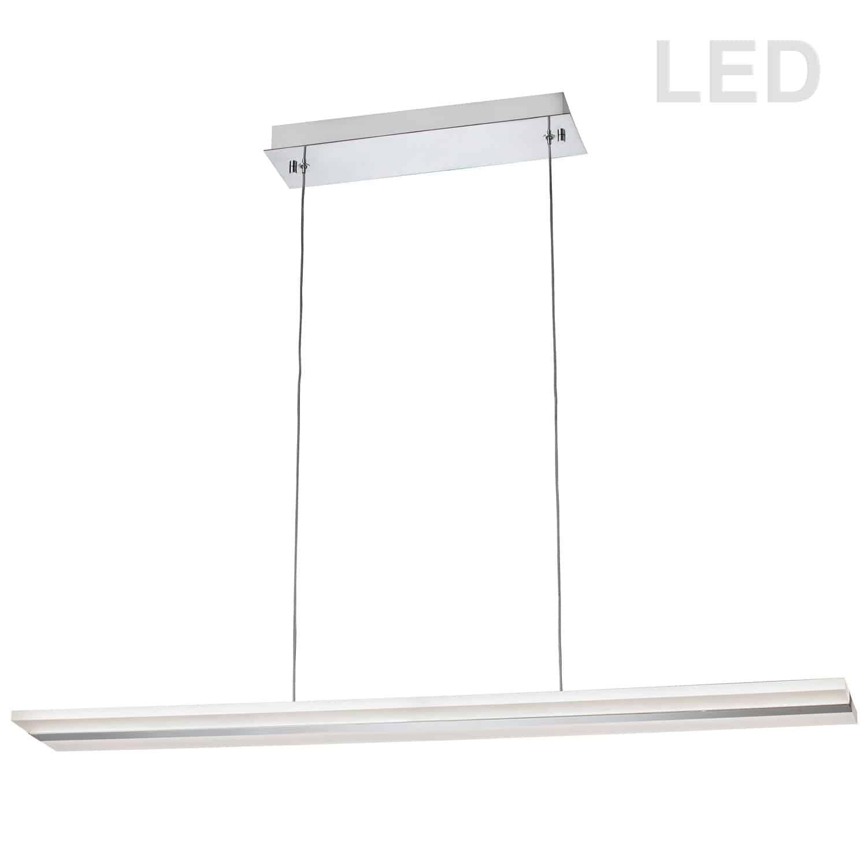 24W LED Pendant, Polished Chrome Finish