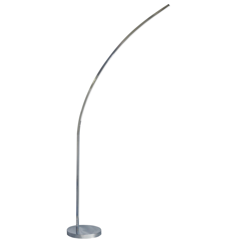 22W LED Floor Lamp Polished Chrome Finish