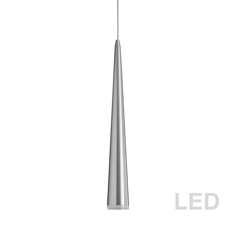 5W LED Pendant, Satin Chrome Finish