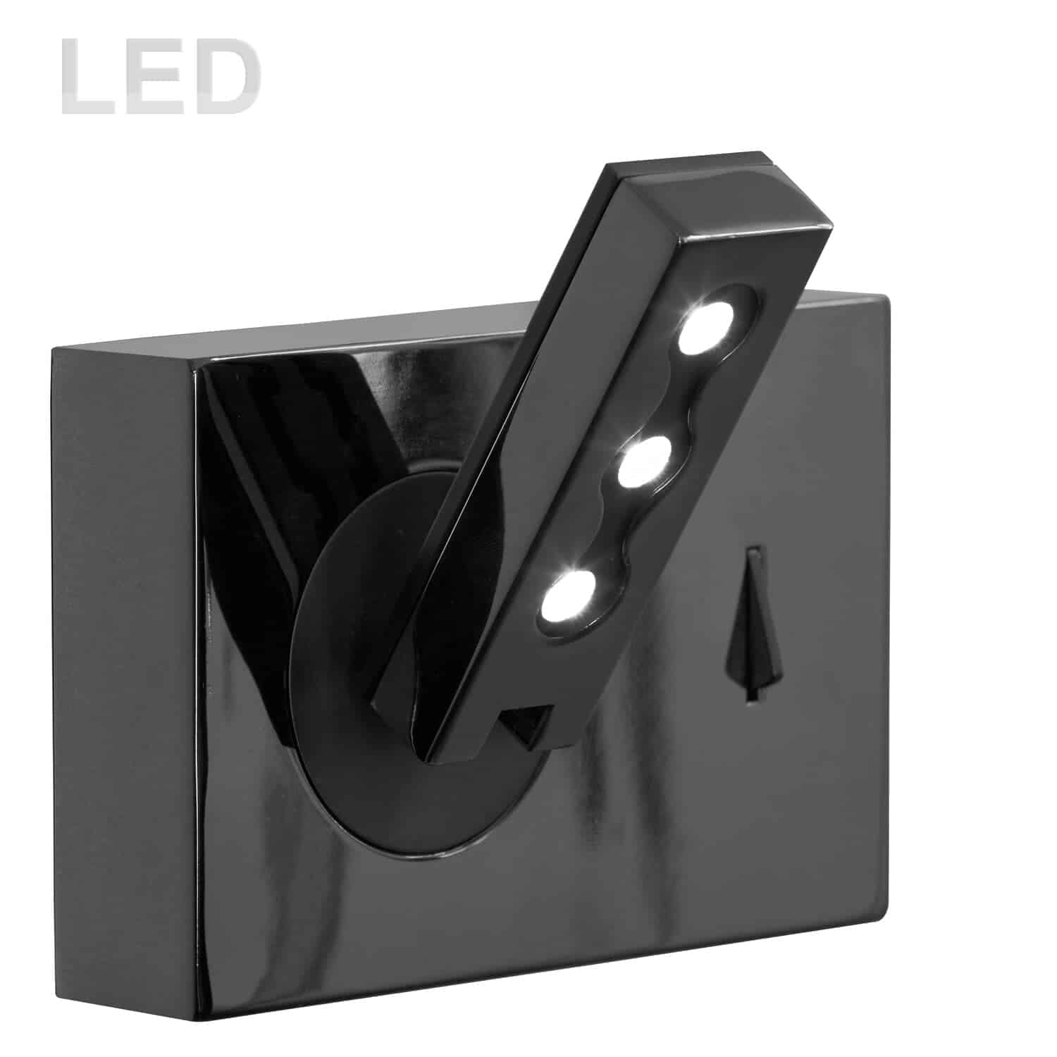 Wall Sconce w/LED Reading Lamp, Black