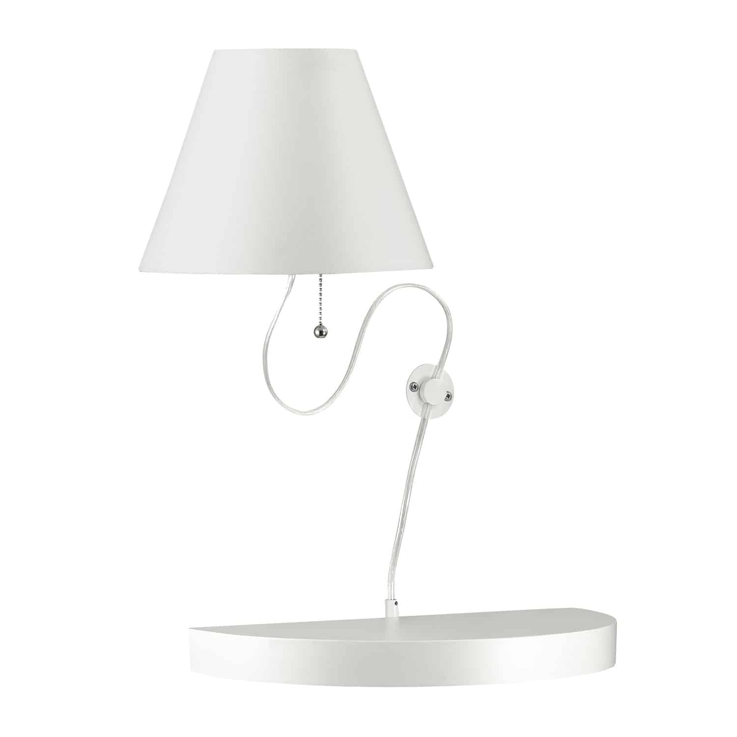 1 Light Incandescent Wall Sconce Matte White Finish with White Shade