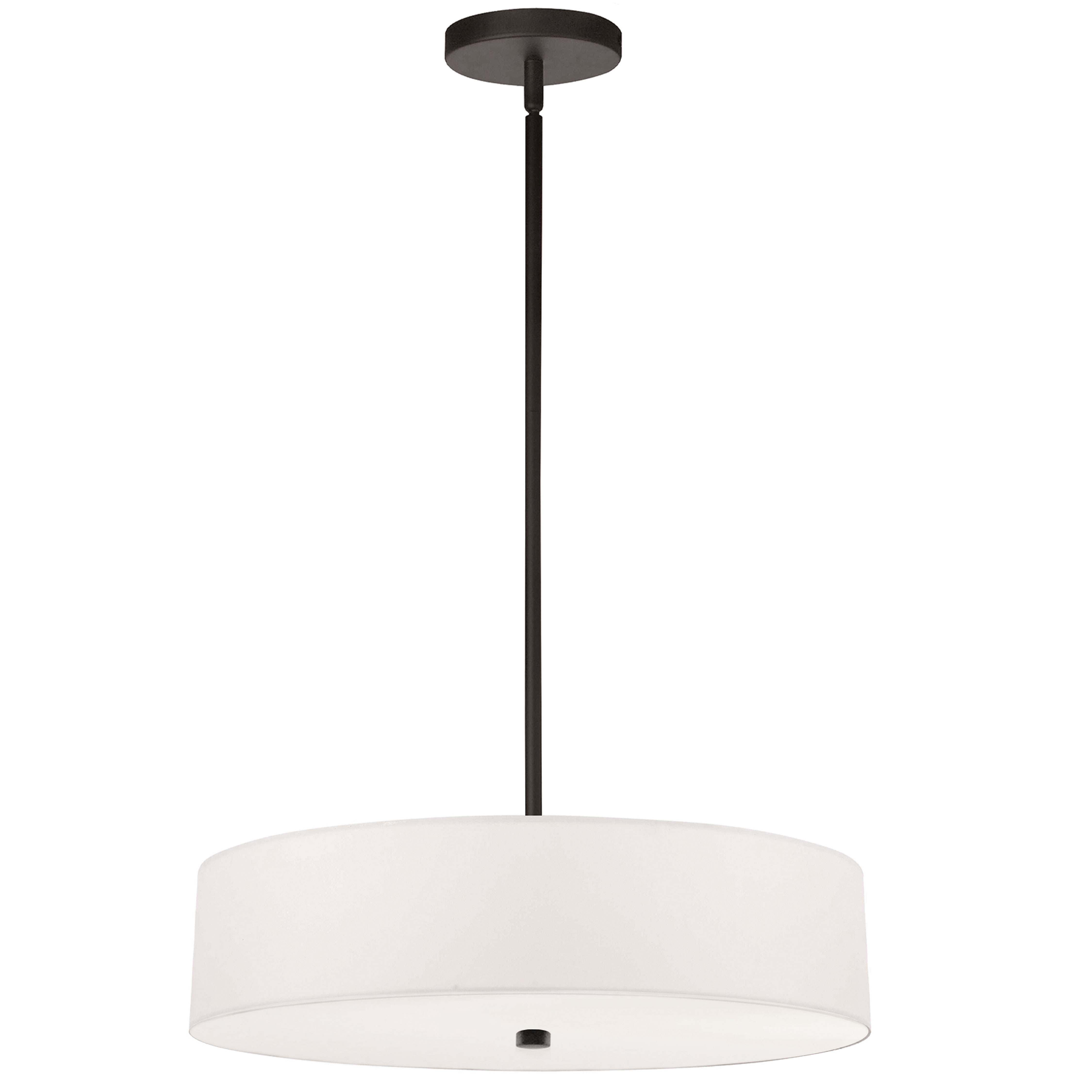 4LT Incandescent Pendant MB w/ White Shade