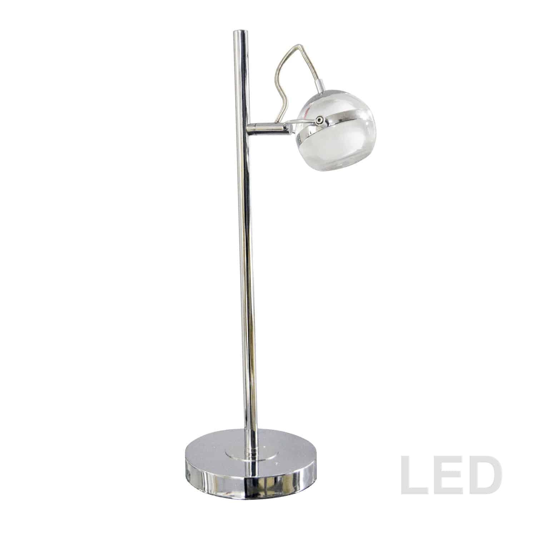 5W LED Table Lamp, Polished Chrome Finish