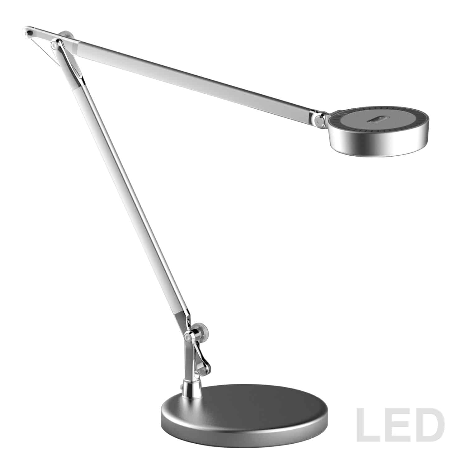 4.8W Adjustable LED Table Lamp, Silver Finish