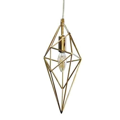 1 Light Incandescent Pendant, Aged Brass Finish
