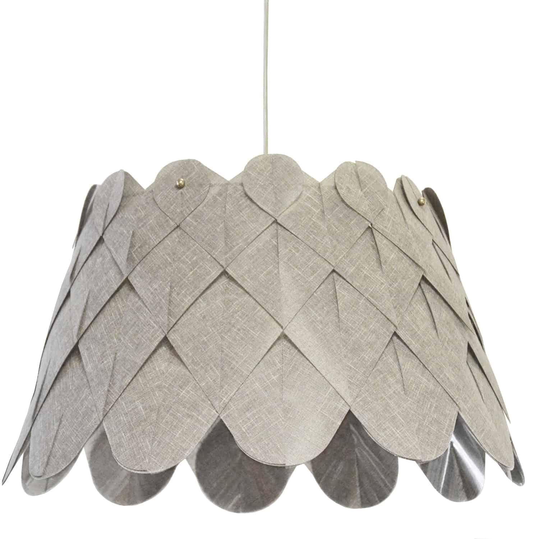 1 Light Amirah Pendant Camelot Grey, Polished Chrome
