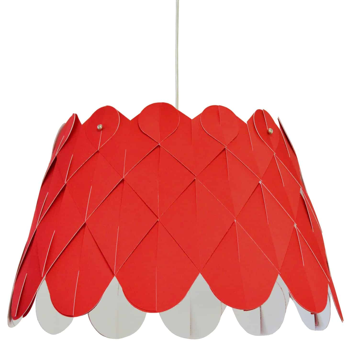 1 Light Amirah Pendant JTone Red, Polished Chrome