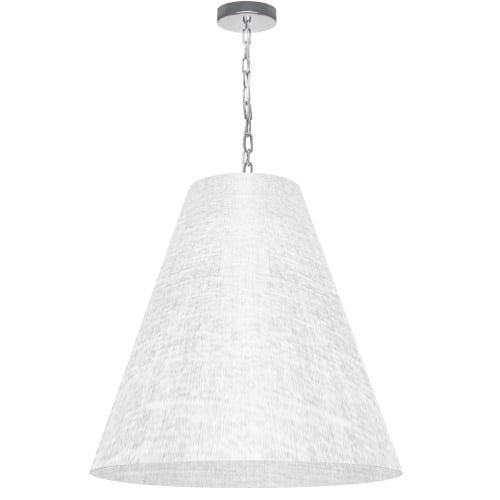 1 Light Large Anaya Polished Chrome Pendant with White/Clear Shade