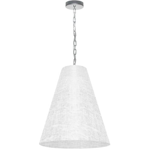 1 Light Medium Anaya Polished Chrome Pendant with White/Clear Shade