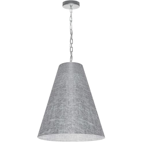 1 Light Medium Anaya Polished Chrome Pendant with Grey/Clear Shade