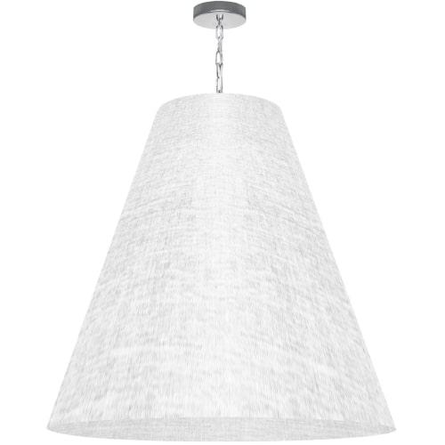 1 Light X-Large Anaya Polished Chrome Pendant w/ White/Clear Shade