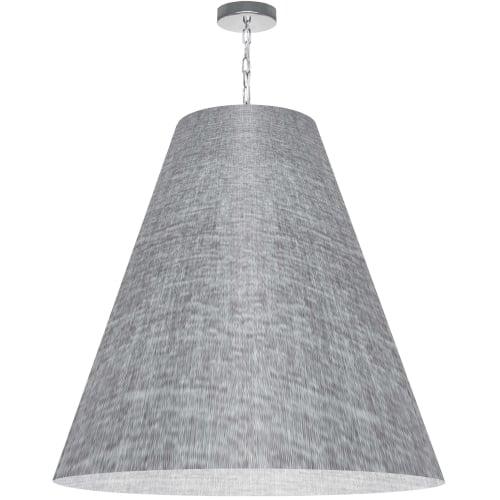 1 Light X-Large Anaya Polished Chrome Pendant w/ Grey/Clear Shade