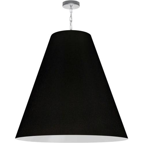 1 Light X-Large Anaya Polished Chrome Pendant w/ Black Shade