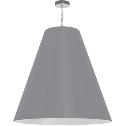 1 Light X-Large Anaya Polished Chrome Pendant w/ Grey Shade