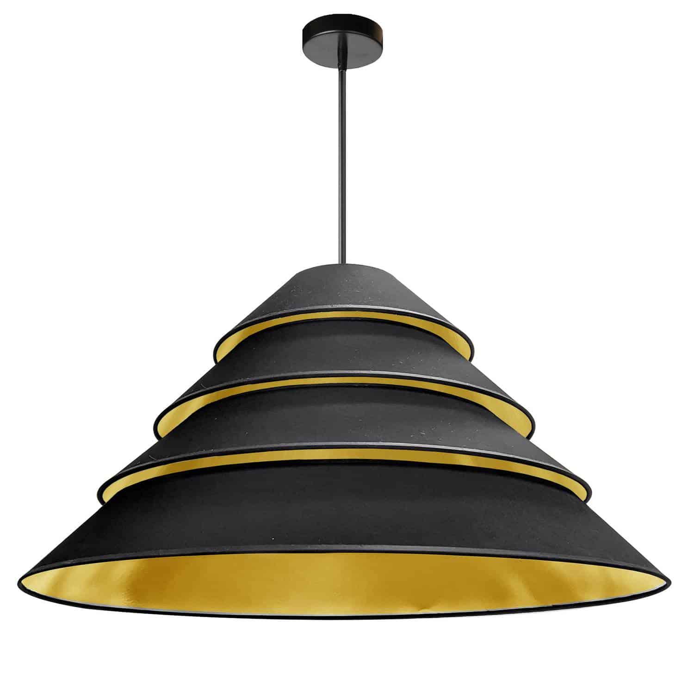 4Light Aranza Pendant, Black/Gold Shade, Black