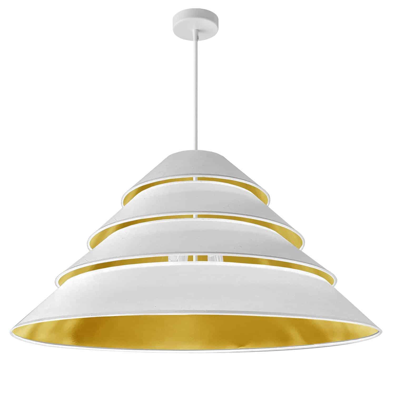 4Light Aranza Pendant, White/Gold Shade, White