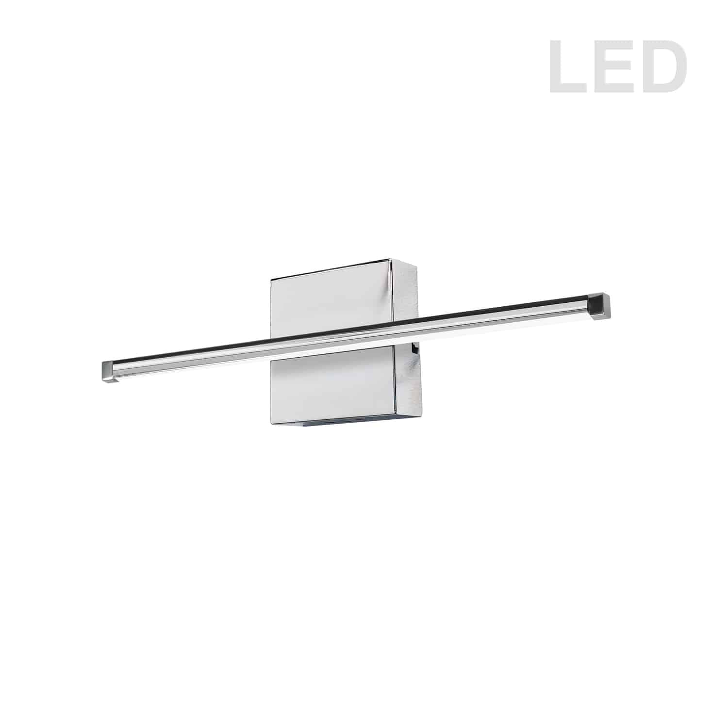 19W LED Wall Sconce, Polished Chrome with White Acrylic Diffuser