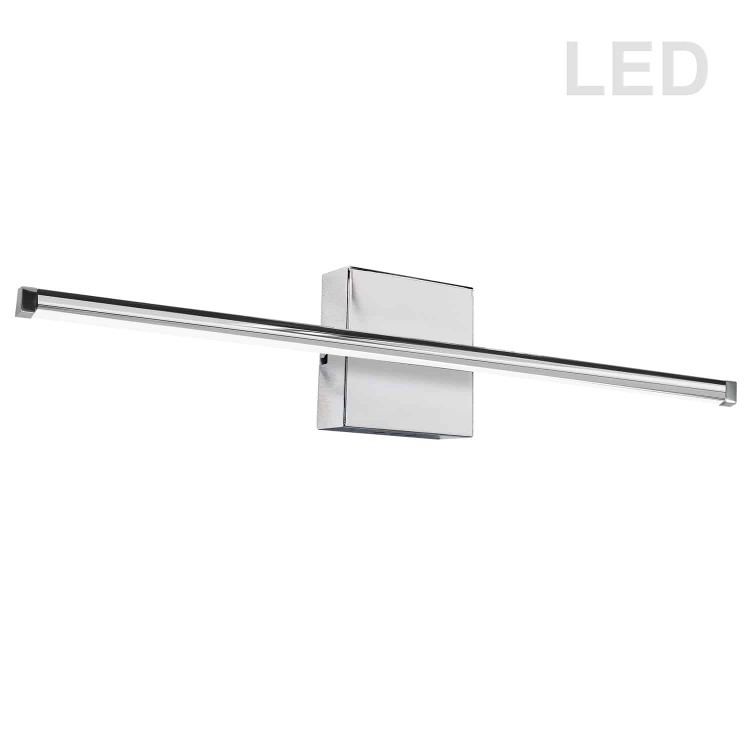 30W LED Wall Sconce, Polished Chrome with White Acrylic Diffuser