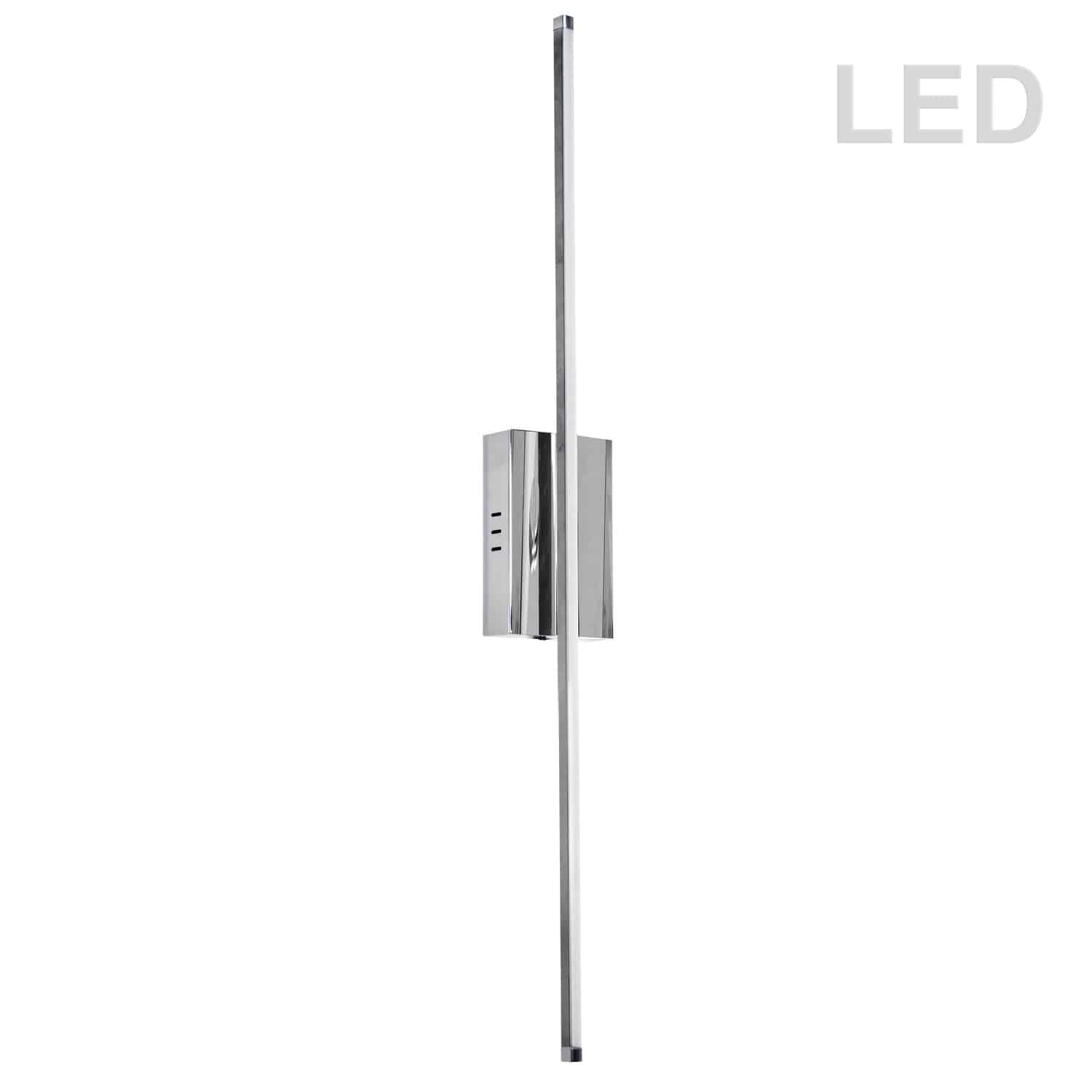 30 Watt LED Wall Sconce Polished Chrome w/White Acrylic Diffuser