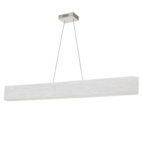 30W Horizontal Polished Chrome Pendant with White/Clear Shade