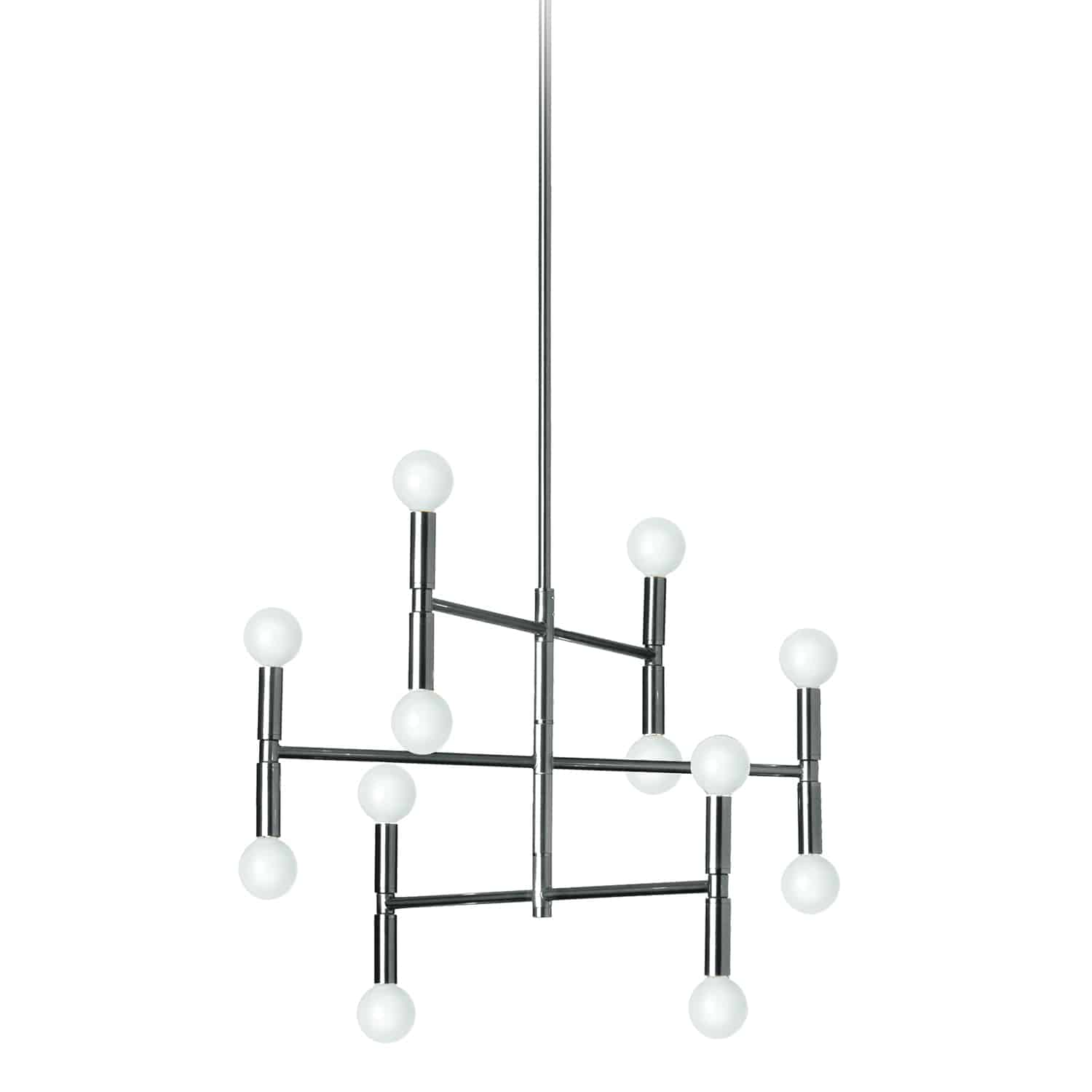 12 Light Chandelier, Polished Chrome Finish