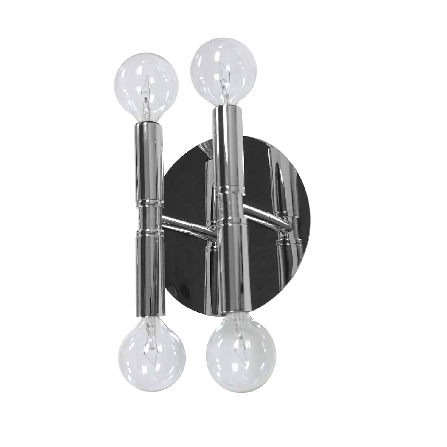 4 Light Incandescent Wall Sconce, Polished Chrome