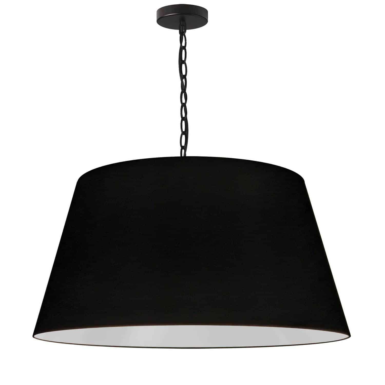 1 Light Brynn Large Pendant, Black Shade, Black