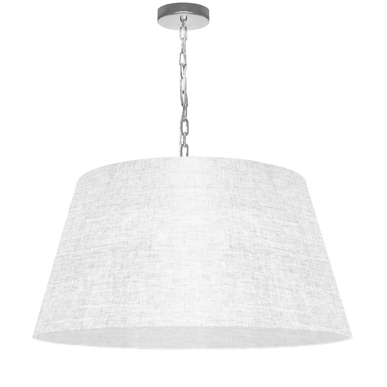 1 Light Brynn Large Pendant, White/Clear Shade, Polished Chrome