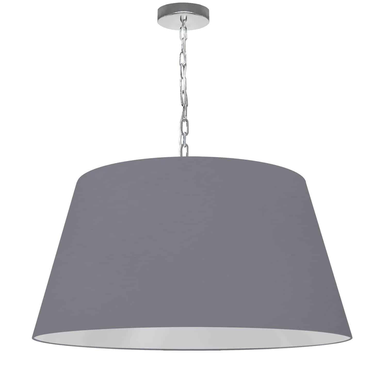 1 Light Brynn Large Pendant, Grey Shade, Polished Chrome