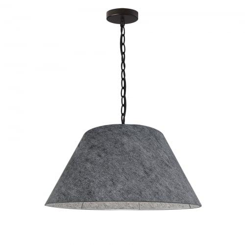 1 Light Meduim Brynn Black Pendant w/ Grey Felt