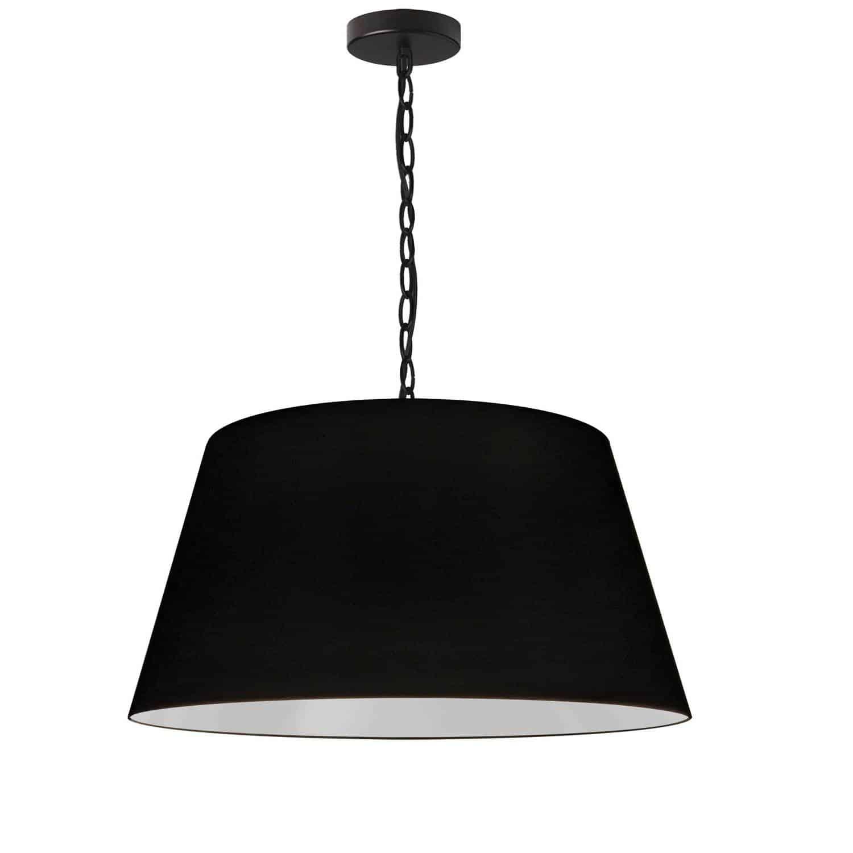 1 Light Brynn Medium Pendant, Black Shade, Black