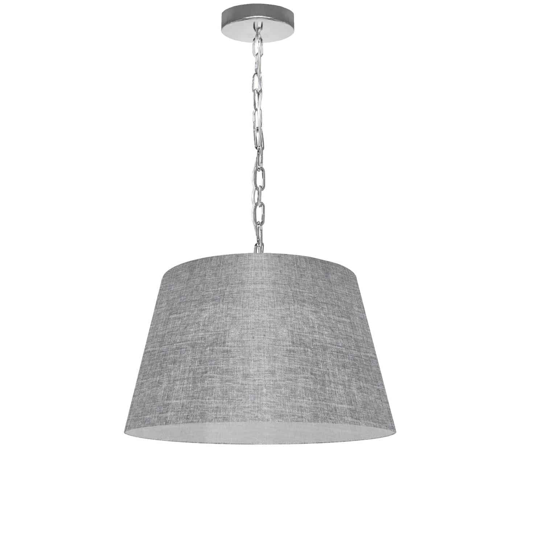 1 Light Brynn Small Pendant, Grey/Clear Shade, Polished Chrome