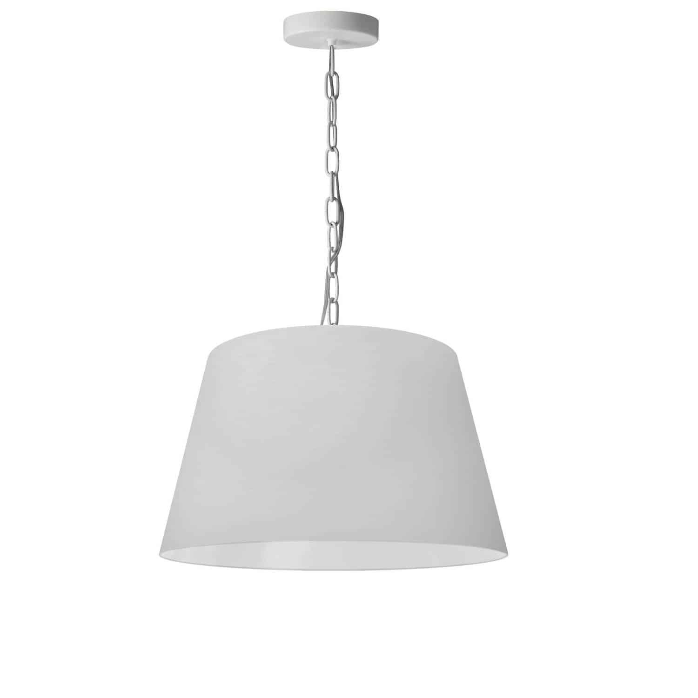 1 Light Brynn Small Pendant, White Shade, White