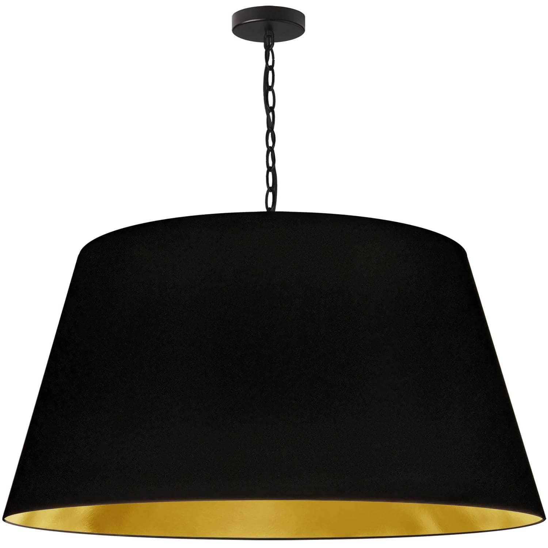 1 Light Brynn X-Large Pendant, Black/Gold Shade, Black