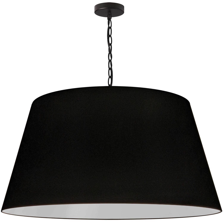 1 Light Brynn Extra Large Pendant, Black Shade, Black