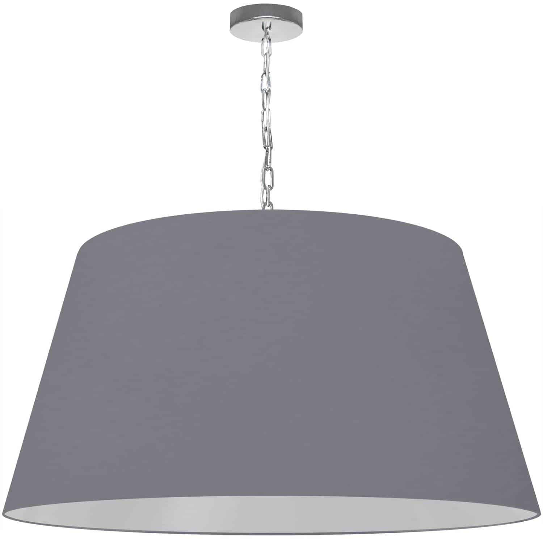 1 Light Brynn X-Large Pendant, Grey Shade, Polished Chrome