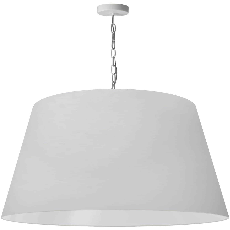 1 Light Brynn Extra Large Pendant, White Shade, White