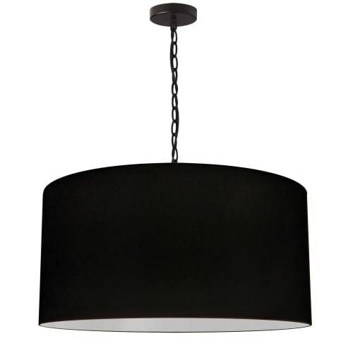 1 Light Large Braxton Black Pendant w/ Black Shade