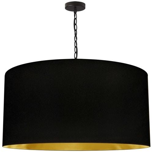 1 Light X-Large Braxton Black Pendant w/ Black/Gold Shade