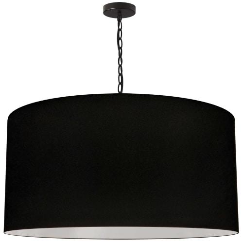 1 Light X-Large Braxton Black Pendant w/ Black Shade