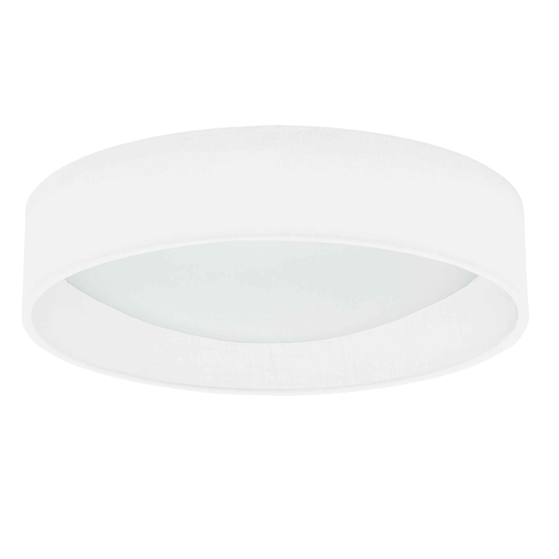 LED Flush Mount, Satin Chrome Finish, Eggshell Shade