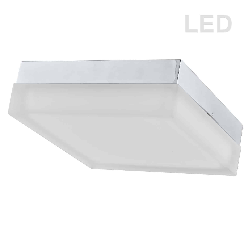 20W LED Flushmount, Satin Nickel Finish