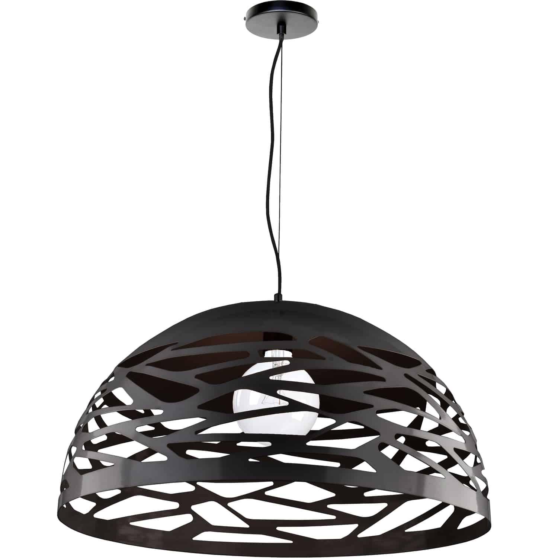 1 Light Pendant, Matte Black Finish